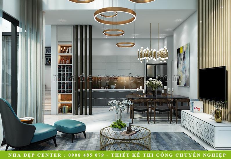 Mẫu Thiết Kế Nhà Phố Sân Vườn Kiểu Resort | Dì Hồng | NP-166