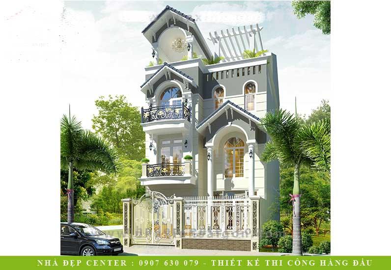 Biệt Thự Phố 3 Tầng Tân Cổ Điển | Chị Bình | Quận 7 | BT-158