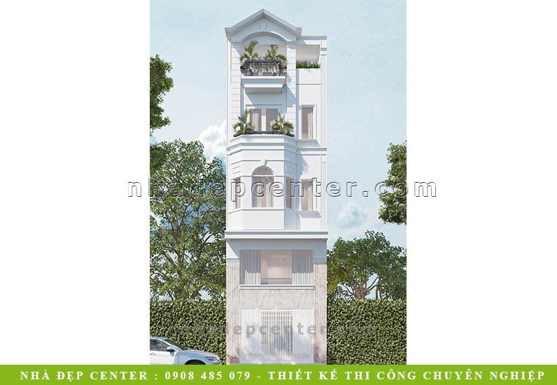 Mẫu Nhà Phố Đẹp Thanh Lịch Tinh Tế | Chị Đoan | NP-152