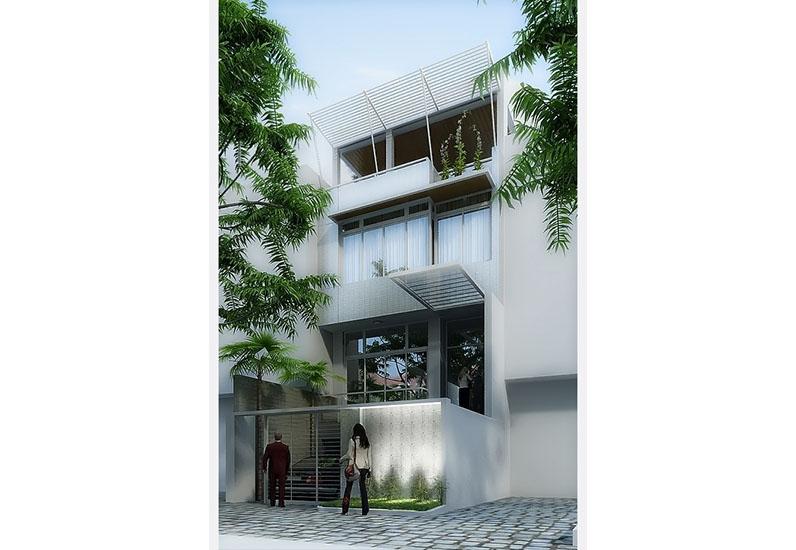 Mẫu Nhà Phố Văn Phòng Có Tầng Hầm | NP-129