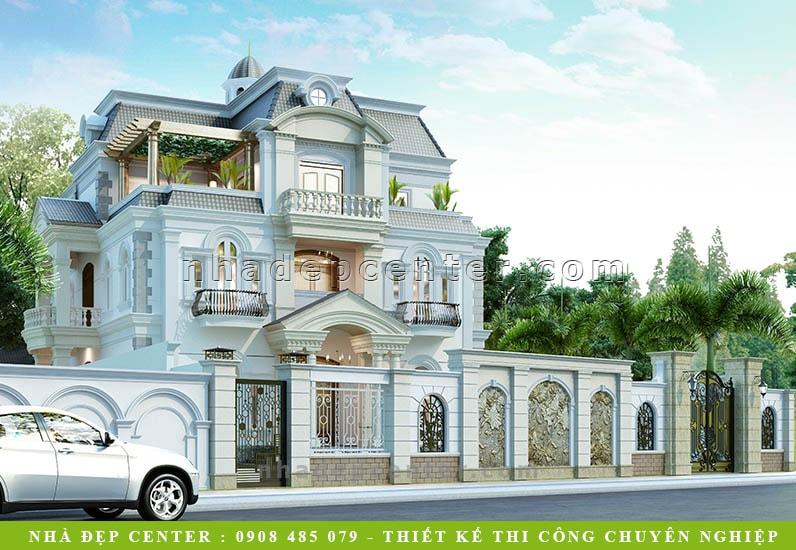 Biệt Thự Cổ Điển 3 Tầng 5 Phòng Ngủ | Ông Hòa | BT-160