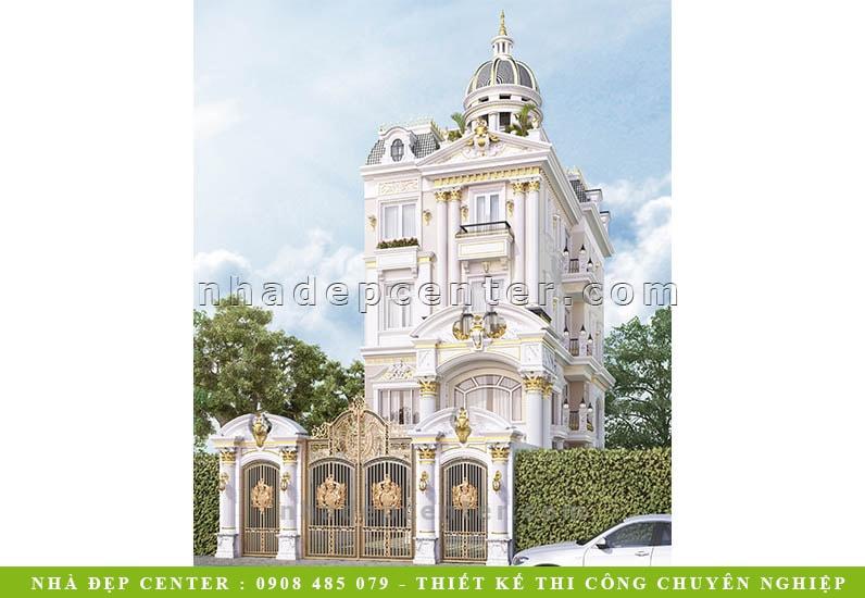 Mẫu Biệt Thự Lâu Đài Mang Đậm Phong Cách Royal | Chị Chiến | BT-154