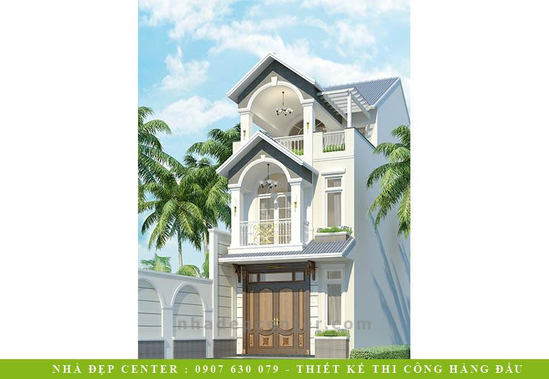 Mẫu Biệt Thự Đẹp Với Gam Màu Sáng | Cô Vân | BT-161