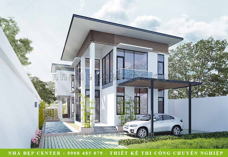 Mẫu Biệt Thự Vườn Mát Mẻ Yên Tĩnh | Ông Sơn | Nhơn Trạch | BT-140
