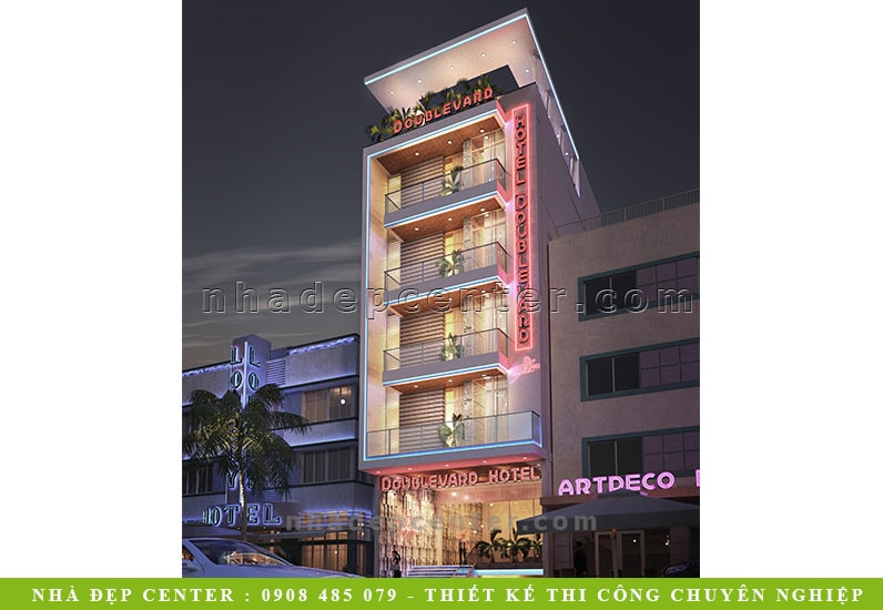 Thiết Kế Khách Sạn Cao Cấp 6 Tầng | Anh Hùng | Bến Tre | NP-153